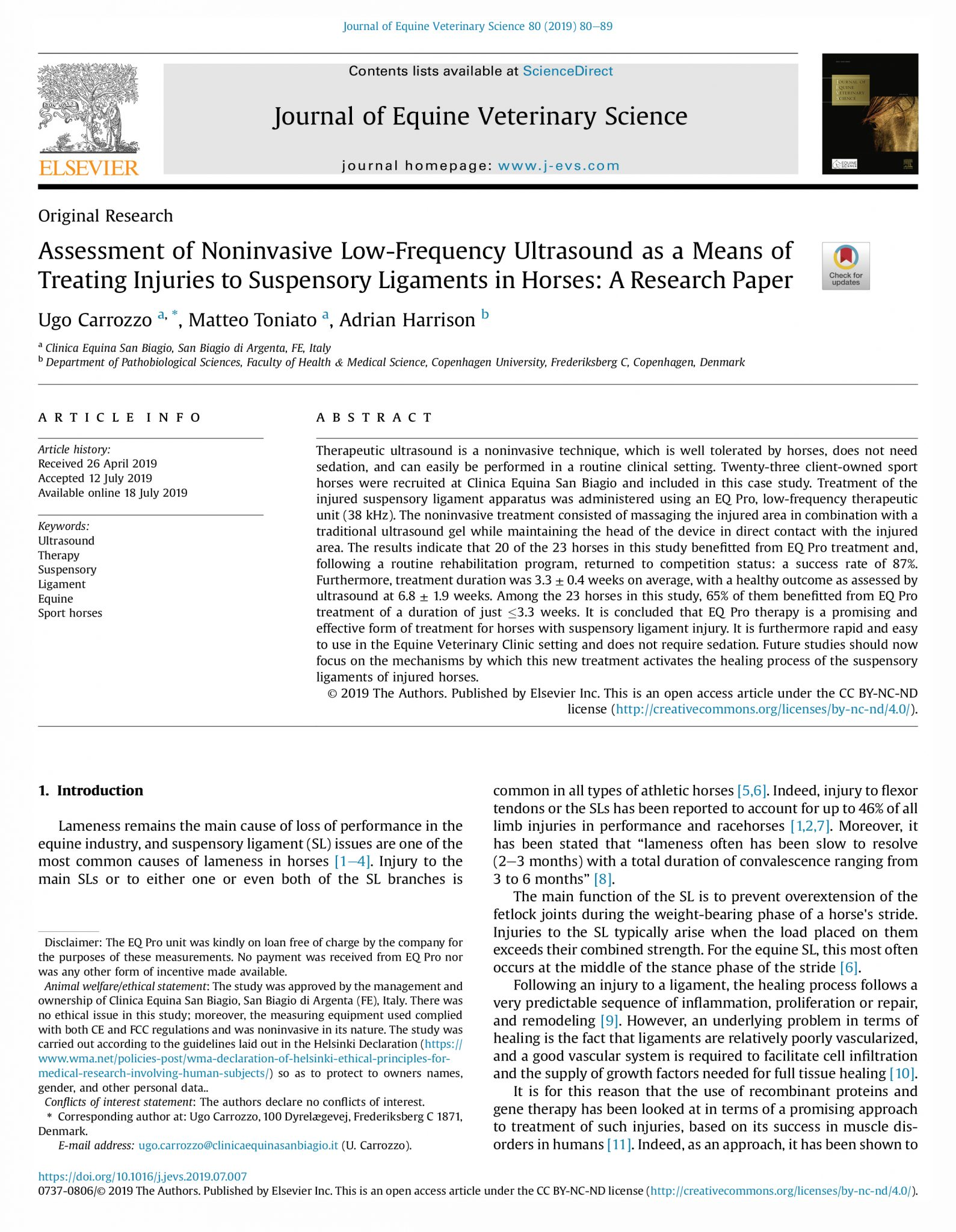 Assessment of Noninvasive Low-Frequency Ultrasound Therapy